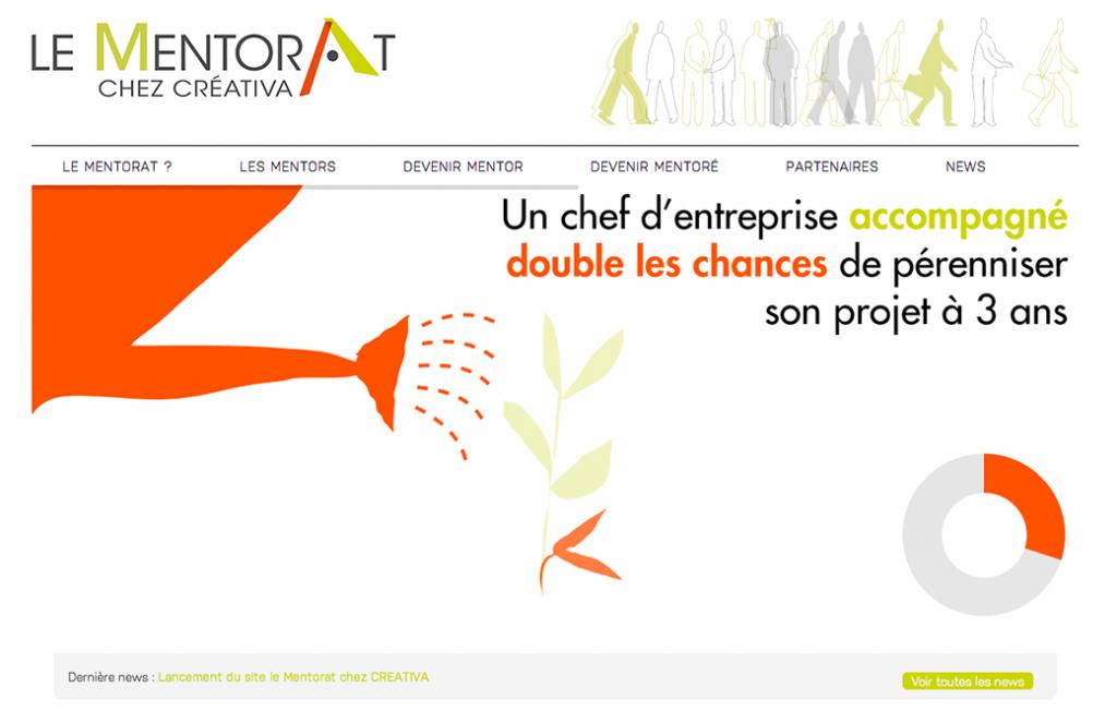 Design et illustration du site Mentorat créativa Avignon