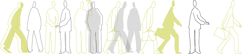 silhouettes illustration pour le site mentorat creativa