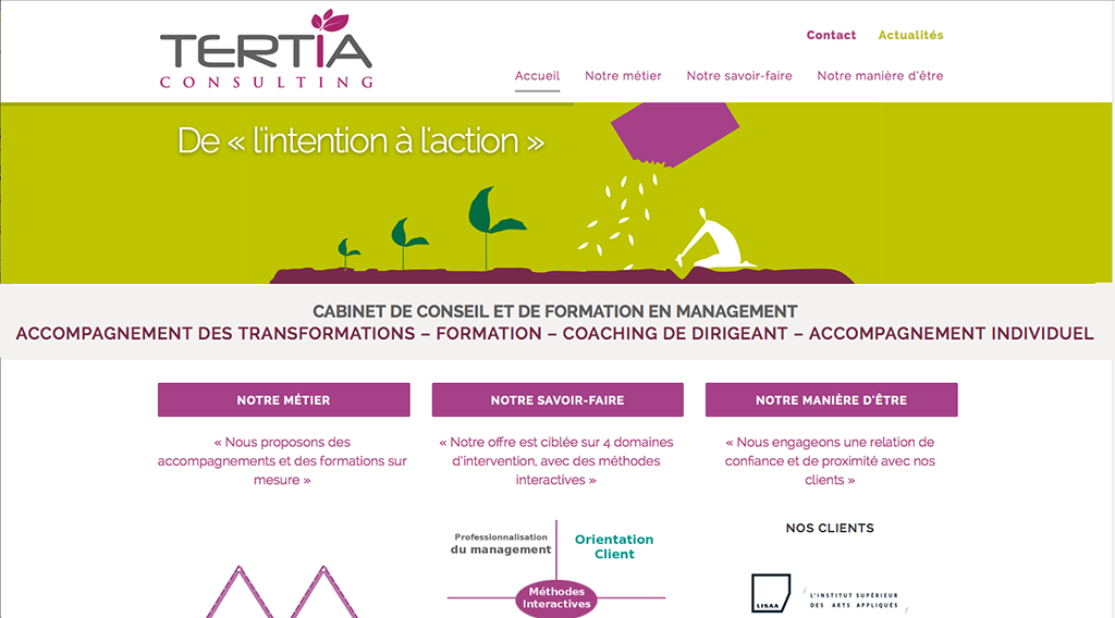 Design du site Tertia Consulting